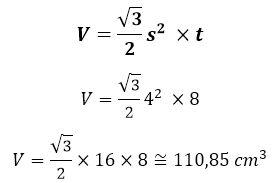 Gambar: contoh aplikasi / penerapan rumus Volume Limas Segienam