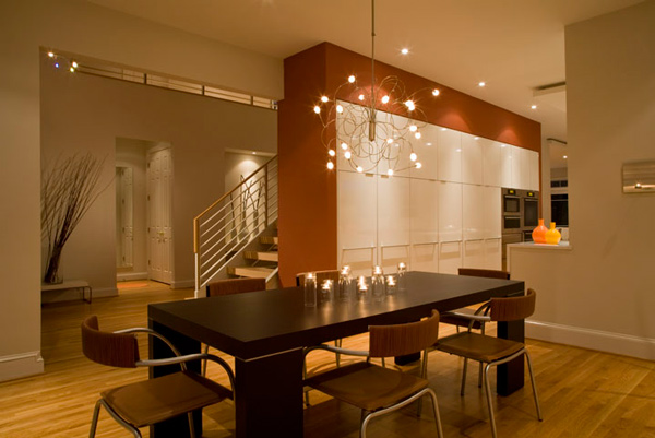 merancang desain ruang makan kontemporer