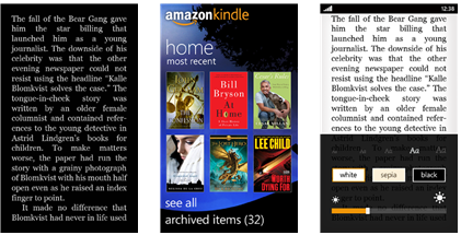 amazon kindle for windows phone