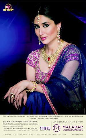Kareena Kapoor Khan's new Ad print for Malabar Gold & Diamonds