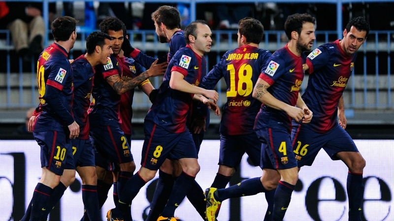 Barcelona Vs Malaga Full Match Video 6-1-13