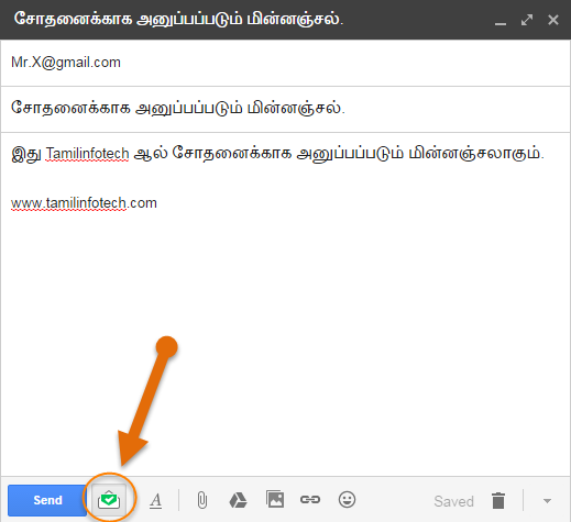 compose gmail with mail track