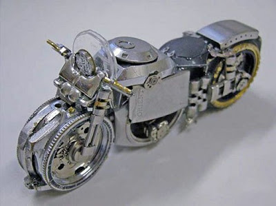 Motorcycles made from old watches Seen On www.coolpicturegallery.us