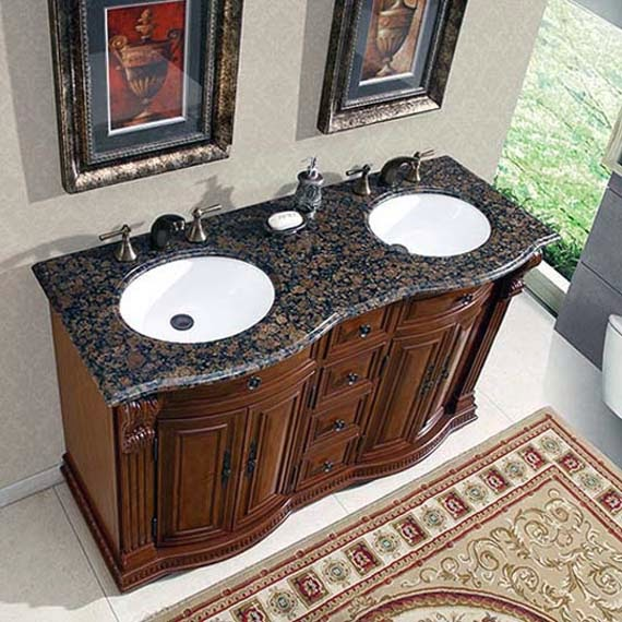Double Sink Small Bathroom : Small Single Sink Bathroom Vanities Picture With Bathroom Sink For ...