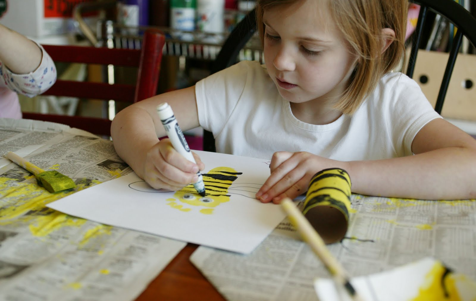 Child Coloring With Markers