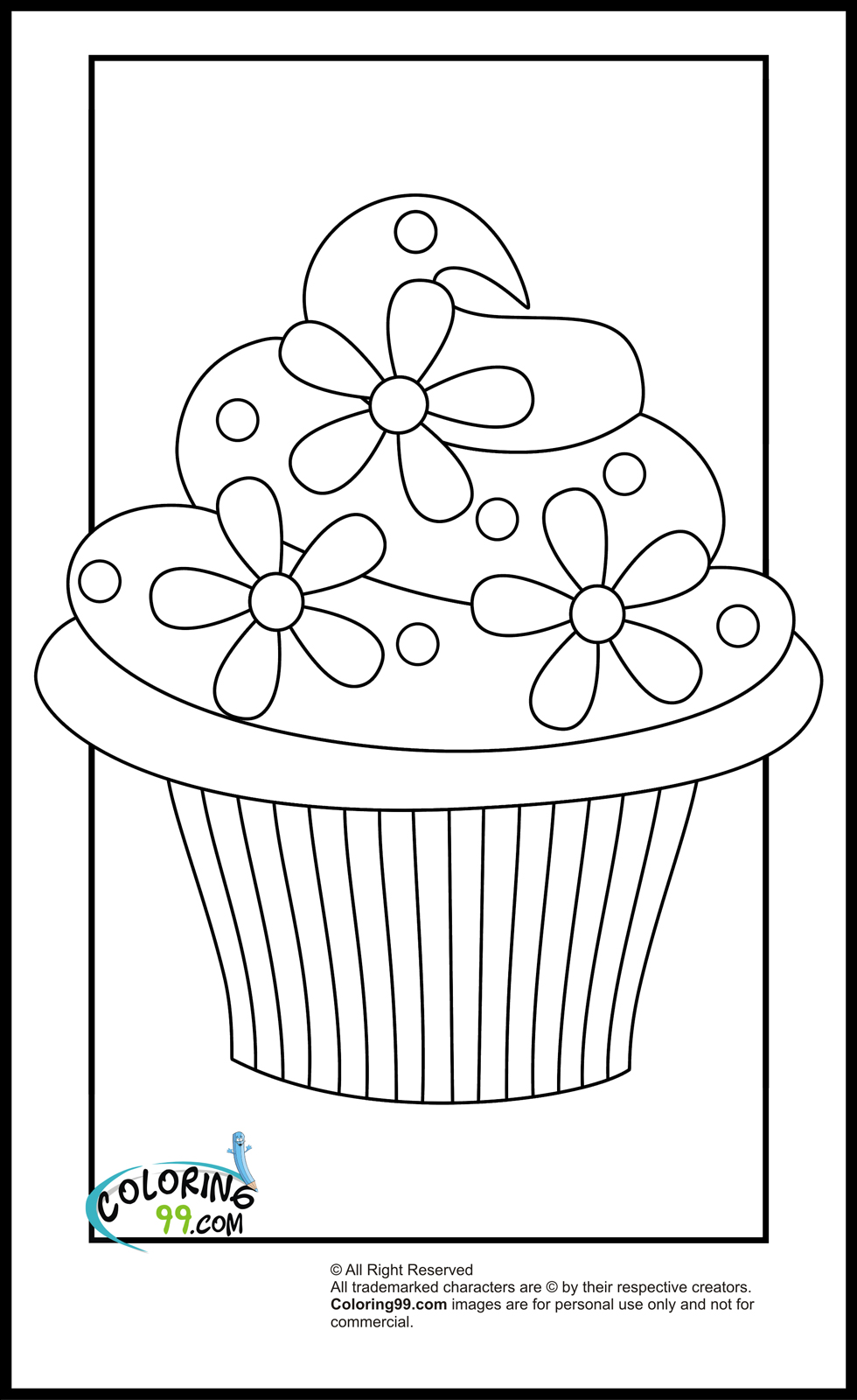 Free Printable Images Of Cupcakes : Free coloring pages of cupcake pictures