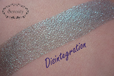 Black Rose Minerals Disintegration Swatch