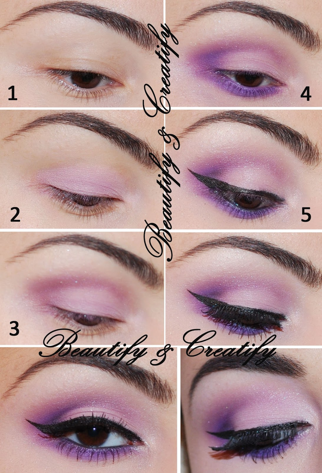 beautify and creatify everyday purple eye makeup tutorial