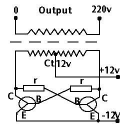 cara merangkai inverter dc ke ac sobat lihat skema di bawah ini.