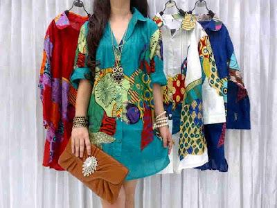 blouse zoo print kode M-1000123