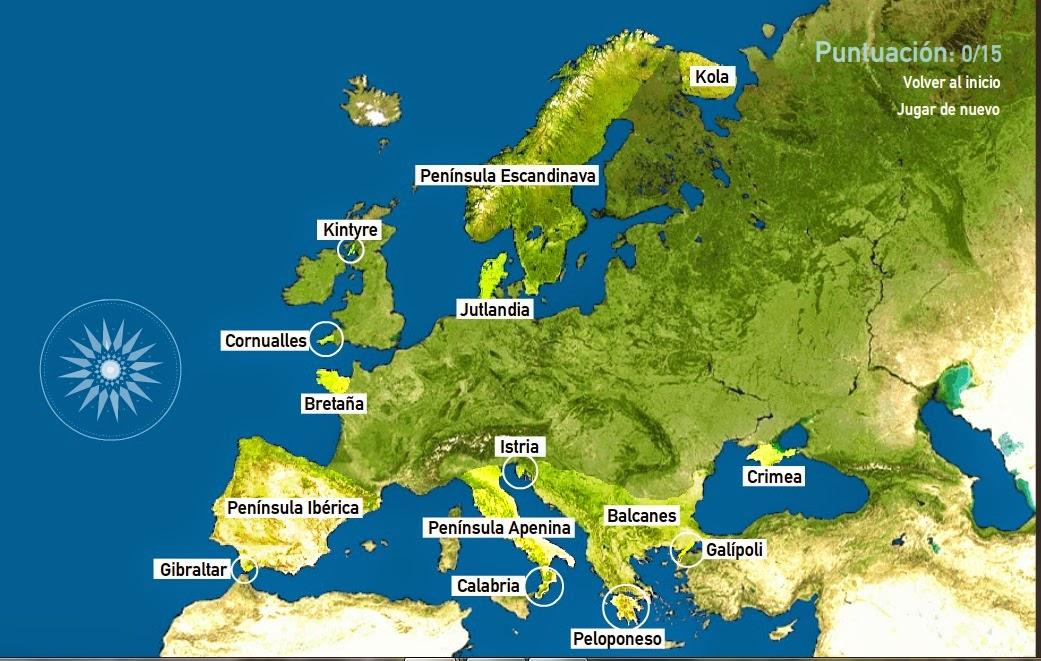 Mapa De Peninsulas De Europa