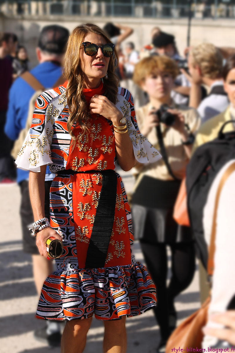 Anna Dello Russo at The Chloe S/S 2013 Ready-To-Wear Show during Paris Fashion Week