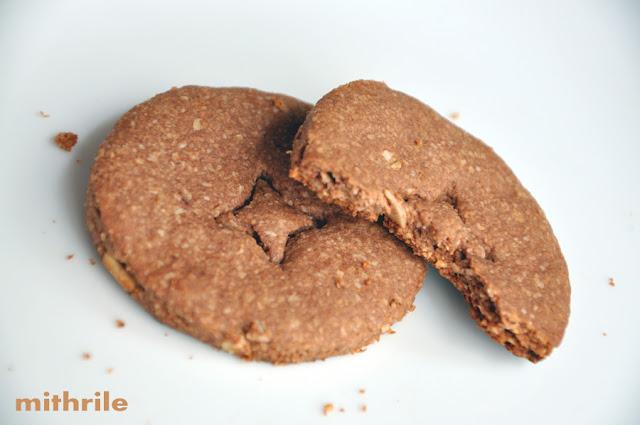 Zabos mandulás kakaós keksz