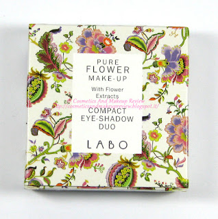 Labo Make-Up - Pure Flower Compact Eye-shadow Duo n.03 Olive green/Aqua green - packaging fronte