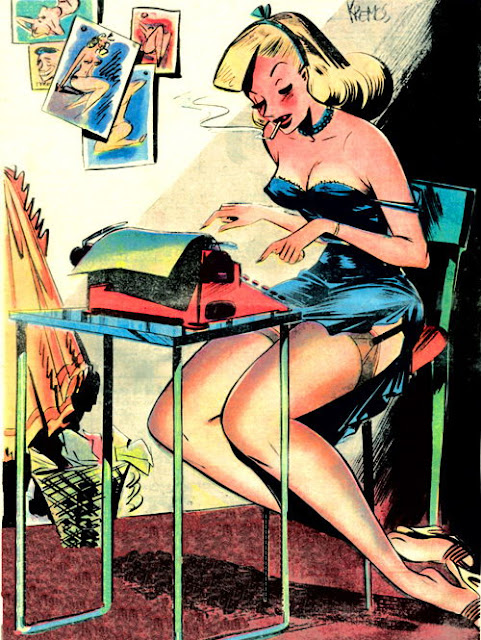 vintage cartoon pin up