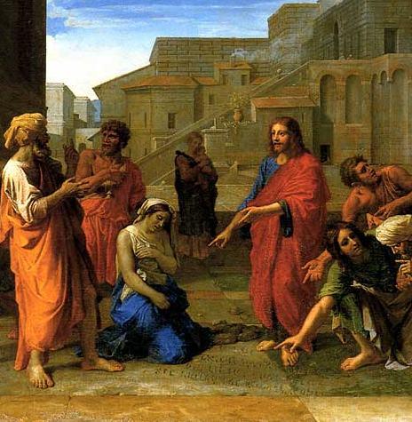29/Famille/Sujet/Les offenses à la dignité du mariage/ Poussin+1653+adulteress