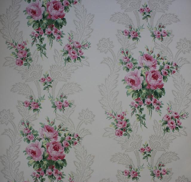 rosie 39 s vintage wallpaper vintage rose wallpaper etsy