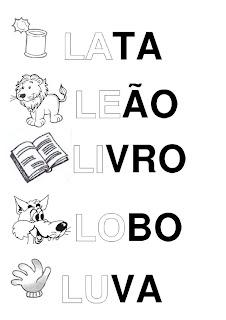 Silabário: la, le, li, lo, lu