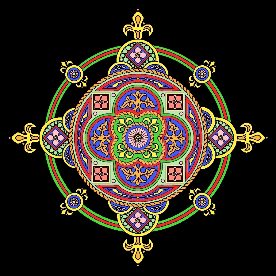 mandala inspired by Christian cross