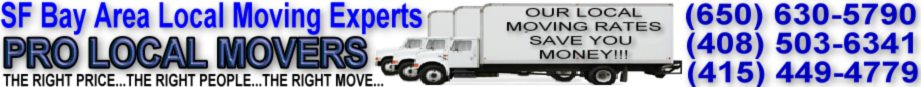 Pro Local Movers SF Bay Area Movers