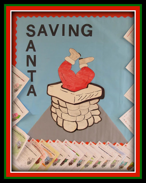 "photo of: ""Saving Santa"" Student Writing Showcase (Christmas Bulletin Board RoundUP via RainbowsWithinReach)"