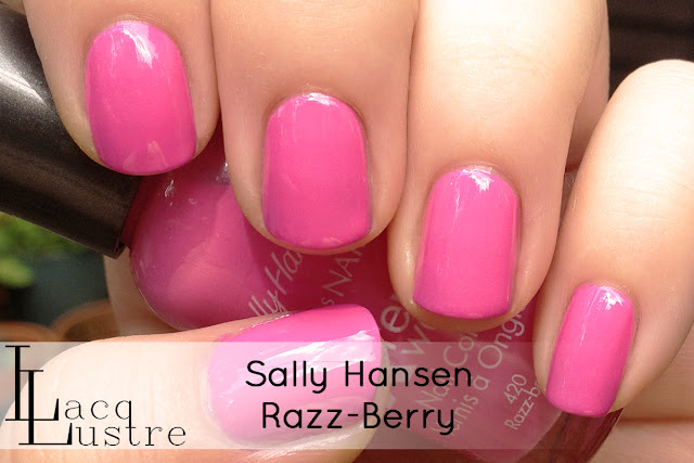 Sally Hansen Razz-Berry swatch