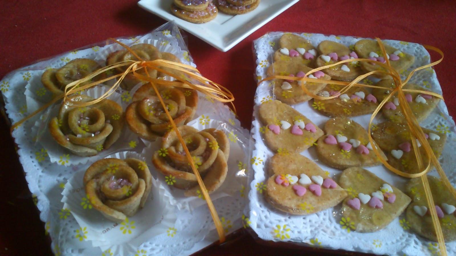 Galletas con forma de rosas