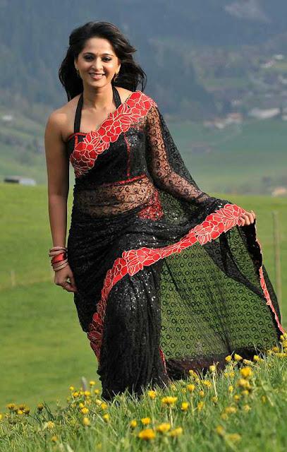 anushka saree below navel images