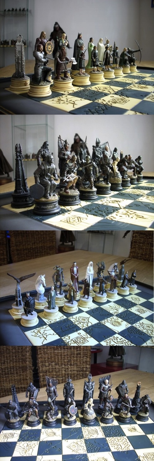 The Lord Of The Rings Chess Set Sharing Happyness