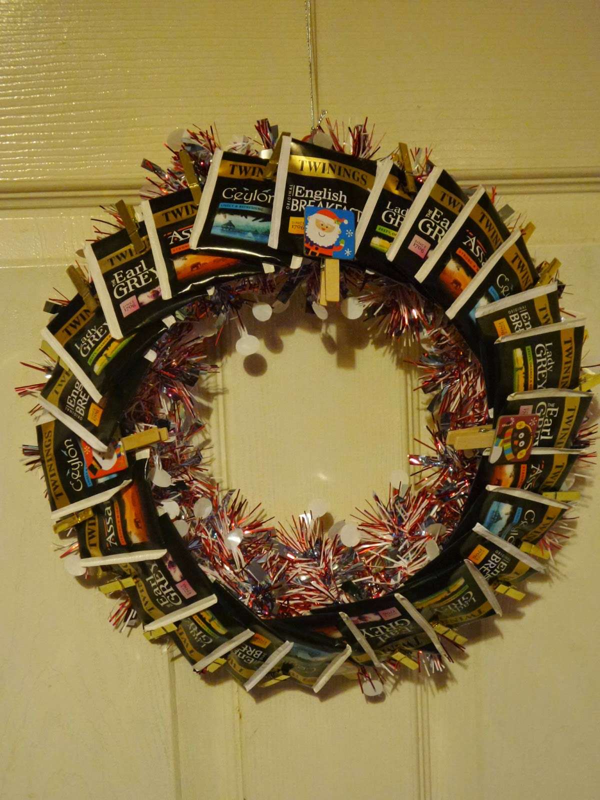 Tea Wreath for one of Top Ender and Big Boy's Teachers.