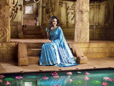 Trisha in Pothys Sari stills