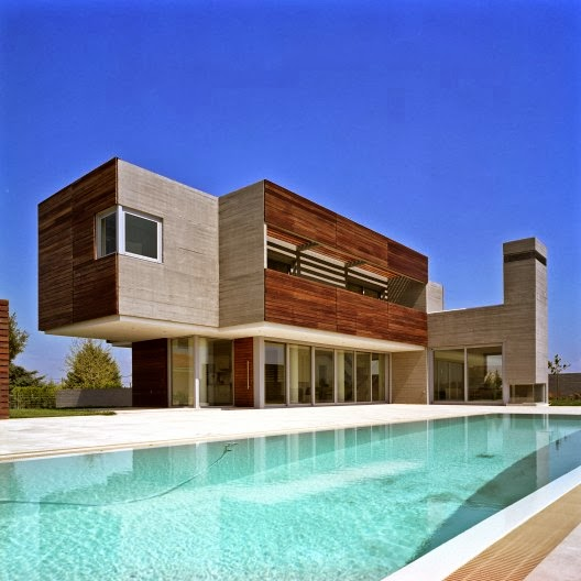 contemporary house design wide cubis minimalist building structure and wide fresh pool