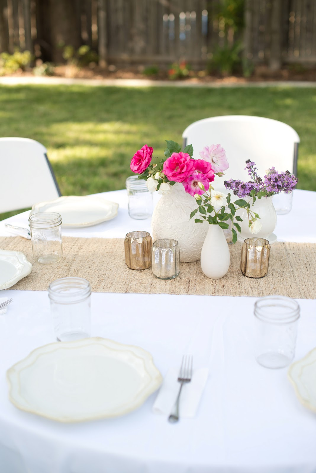Backyard Anniversary Dinner Party