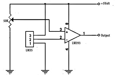 battery charger schematic with LM35