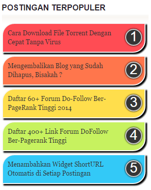 Modifikasi Widget Popular Post Pelangi