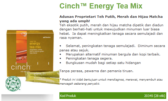 cinch energy tea mix