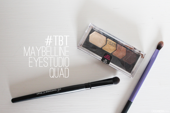 #TBT // Maybelline Eye Studio Color Plush Silk Eyeshadow Quad in Give Me Gold Swatches + Review - cassandramyee