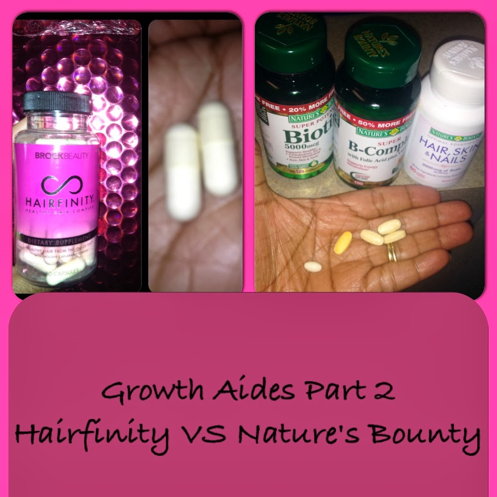 Naturally Scheria: Growth Aide: Hairfinity vs Natures Bounty