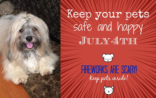 4th of July pet safety fireworks