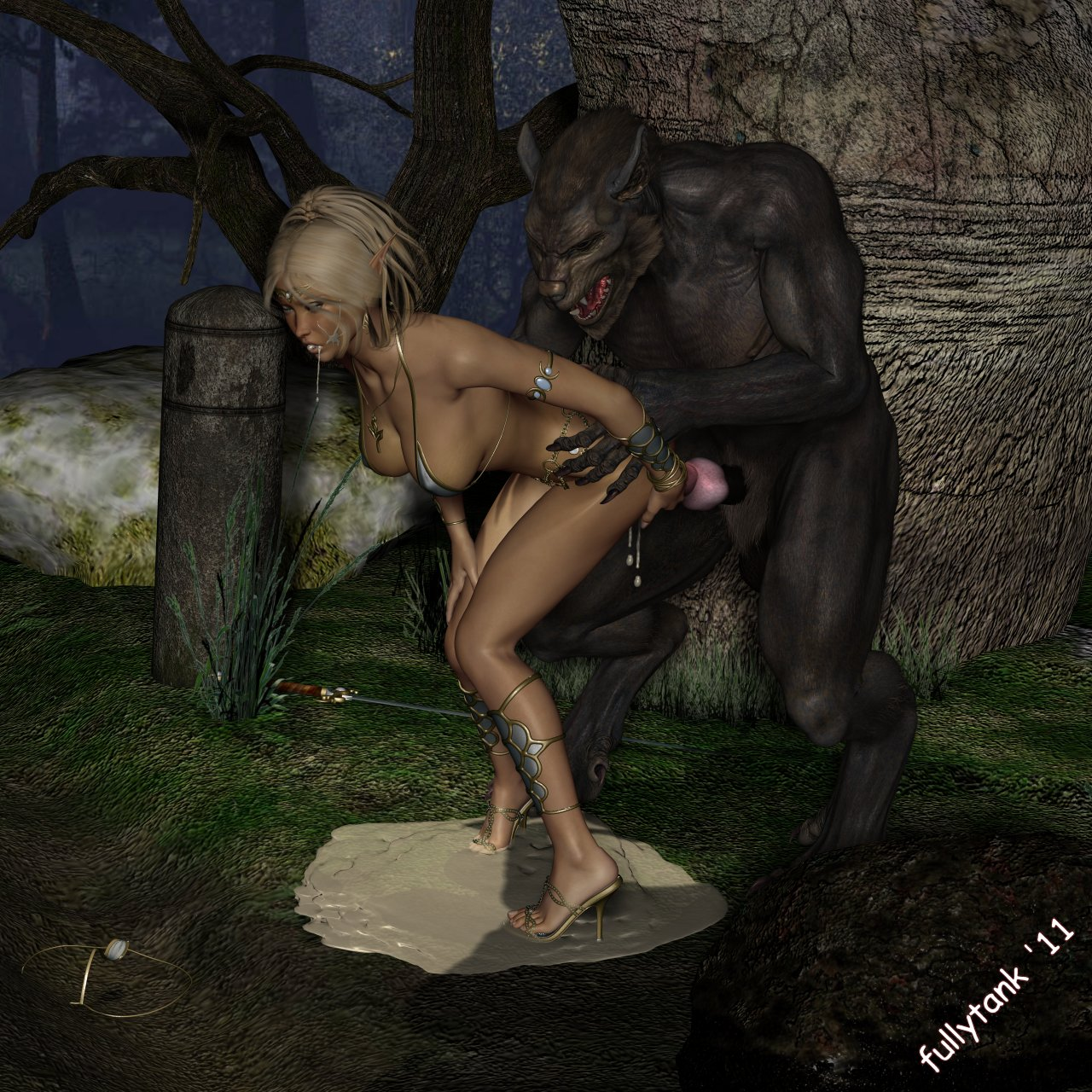Watch female paladin being fucked by werewolfs  porn video