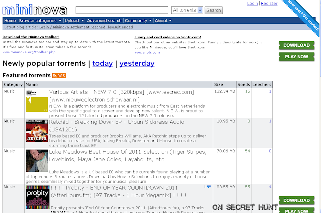 mininova Top 10 Best Torrent Websites Of 2012