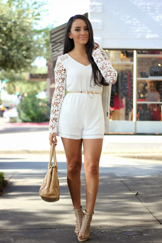 exceptional white romper outfit 2017