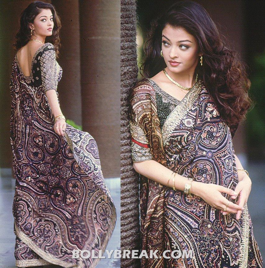 Aishwarya Rai in saree - Aishwarya Rai Old Pic in Saree