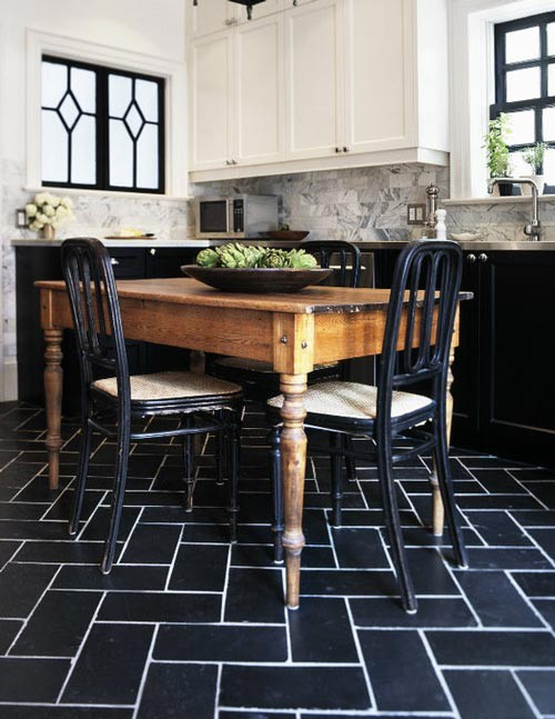 black subway tile with white grouting trendspotting tile style design