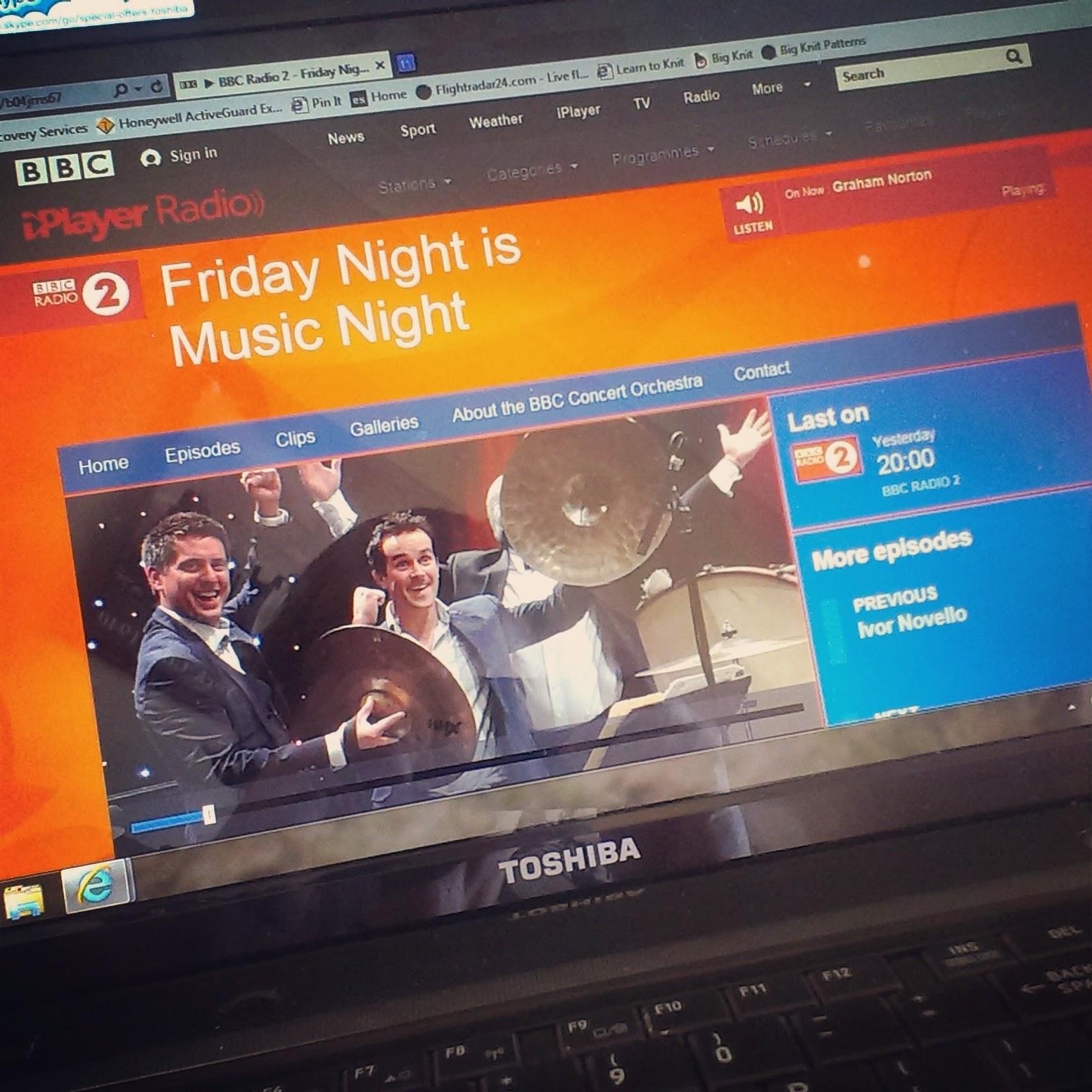 Listening to Friday Night is Music Night