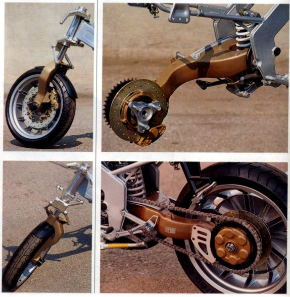Gilera CX125 Motorcycle Suspension Chassis