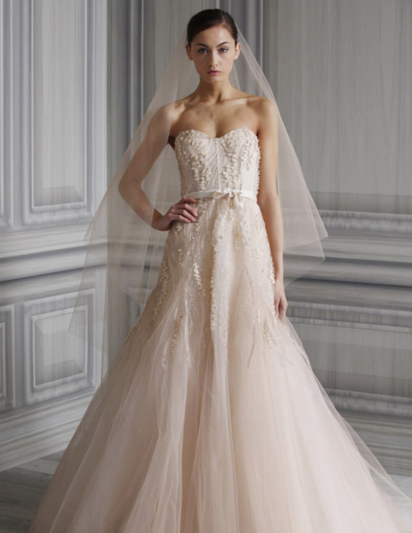 brideindream: Nude Color--A New Favorite For Wedding Dresses