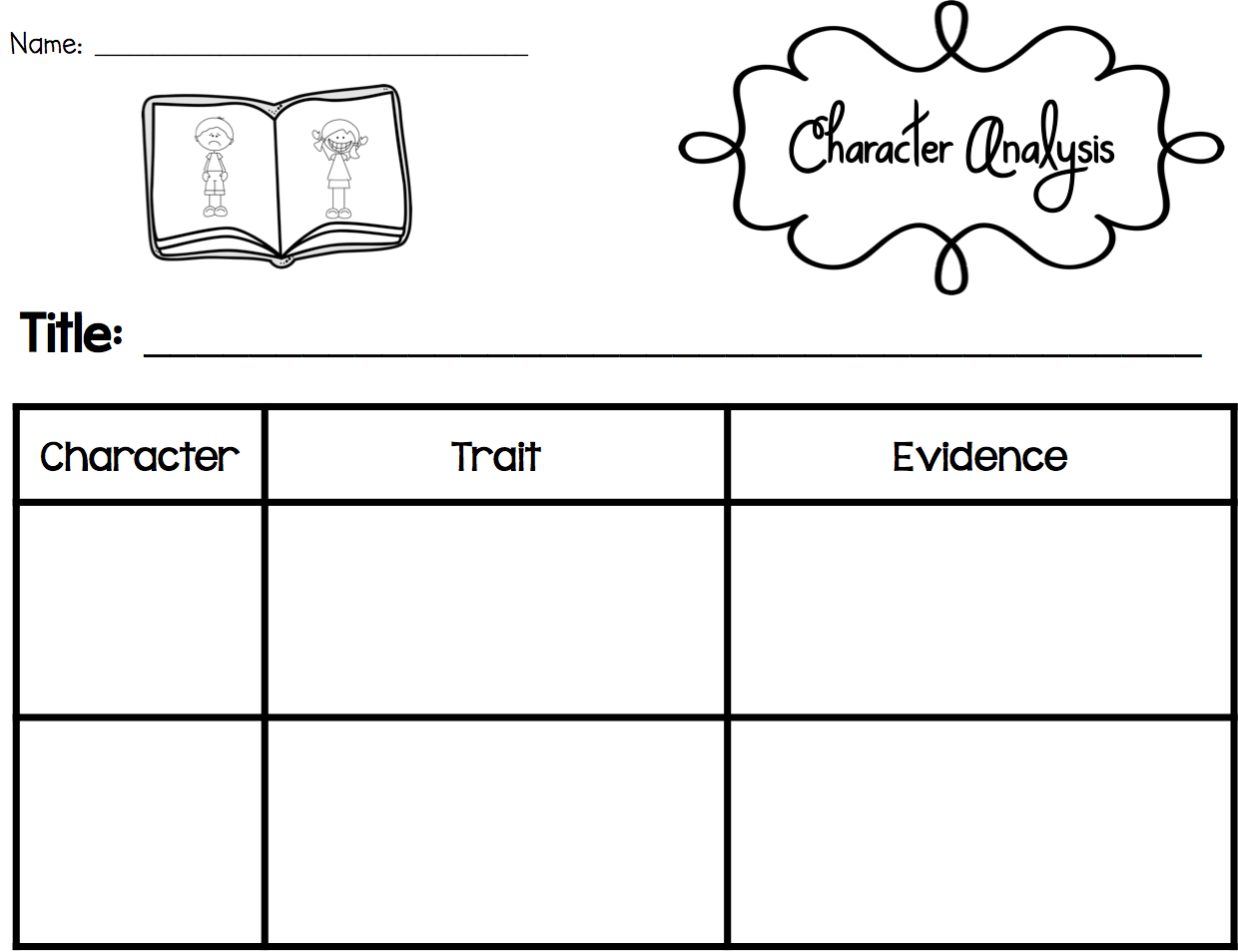 Sarah's First Grade Snippets: Teaching Character Analysis in the
