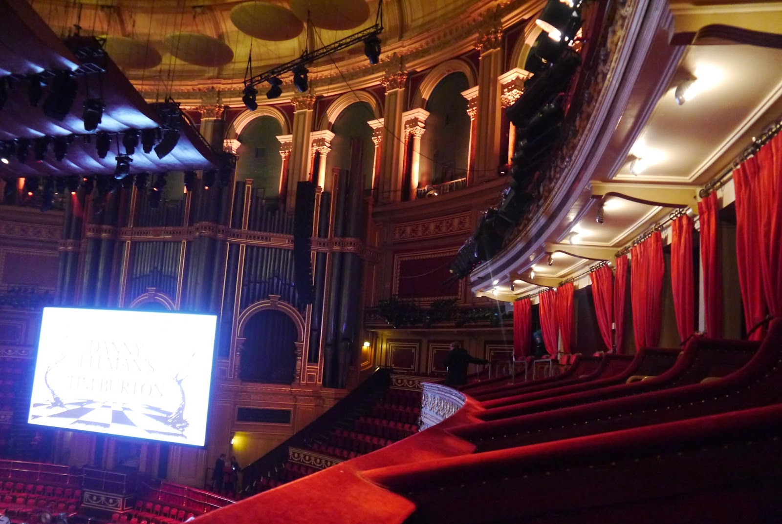 Royal Albert Hall view from box 74