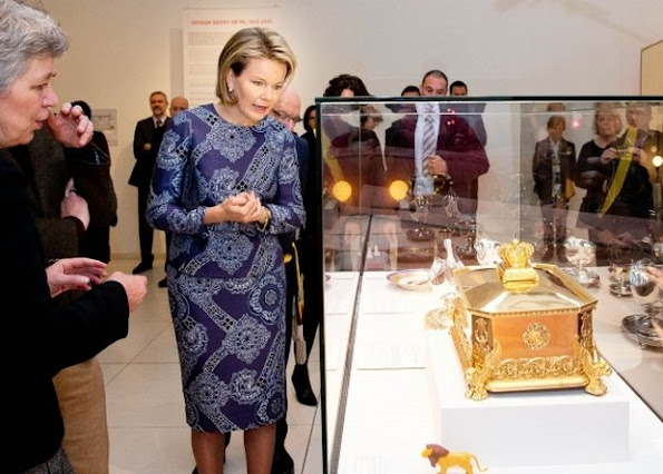 "Queen Mathilde of Belgium visited the exhibition ""Design Derby Holland-Belgium"" at the Design Museum in Gent"